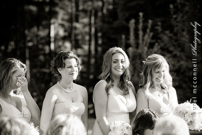 emotional bridesmaids by laurel mcconnell photography