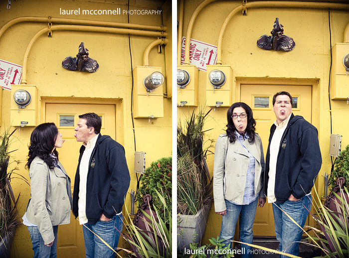 funny engagement portraits
