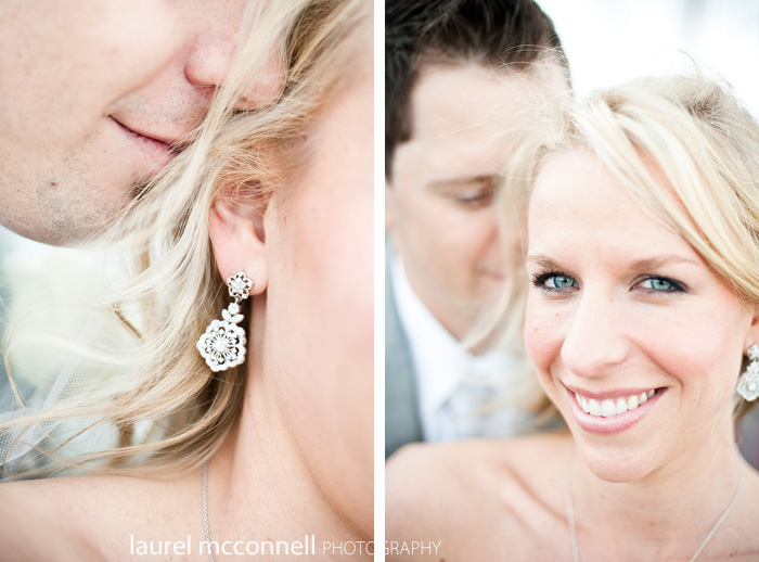 seattle wedding photography of a bride's earrings