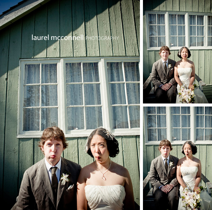 american gothic wedding photography, fish lips style