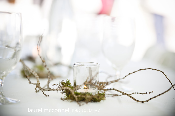 moss and twig wedding decor for orcas island wedding photography