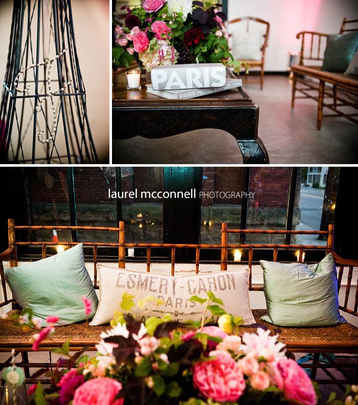 rustic seating area at georgetown studios wedding