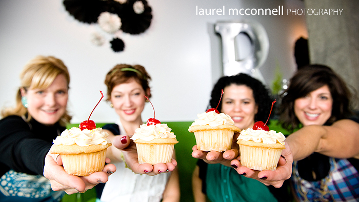 commercial photography with cupcakes for a Seattle wedding catering company