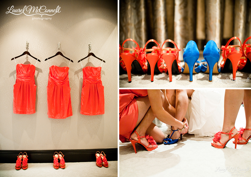 getting ready bridal room at the tulalip resort wedding