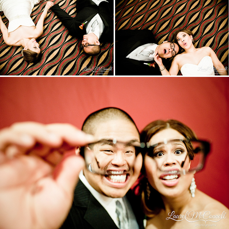 quirky wedding pictures at the tulalip casino by seattle washington