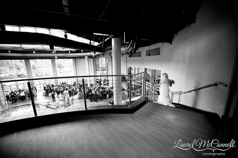 dramatic black and white wedding photography at tulalip casino