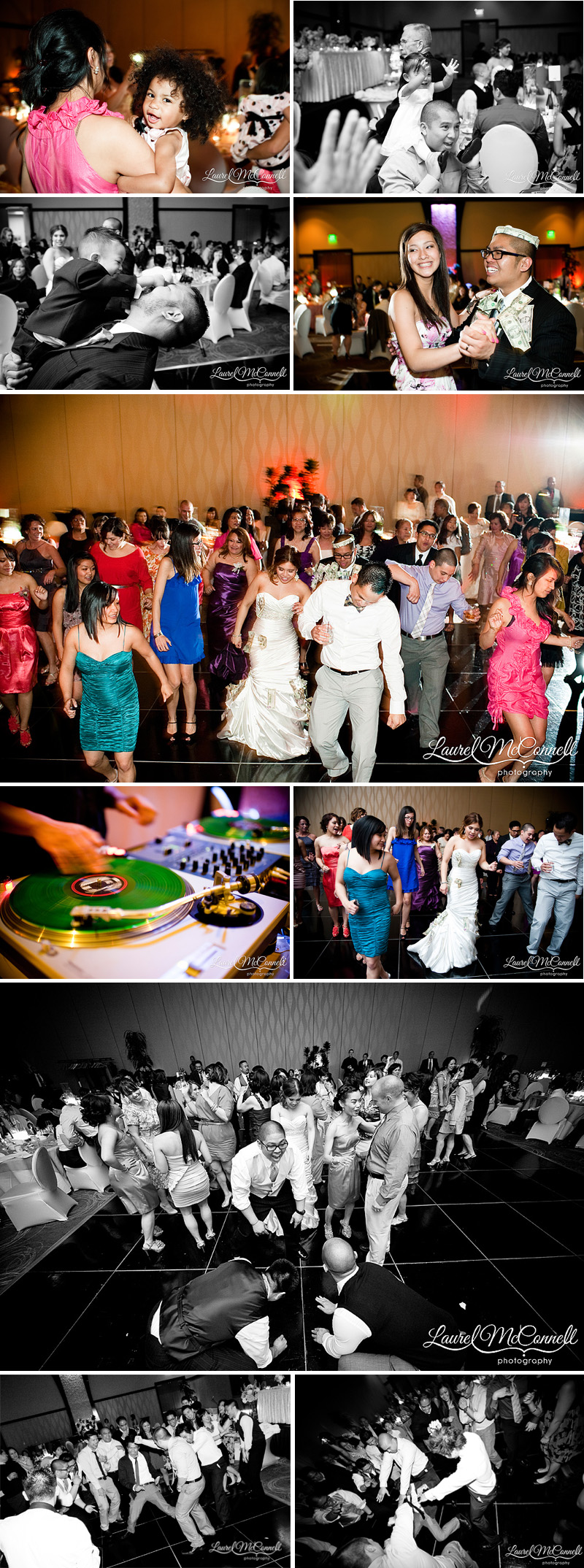 wedding reception pictures of dancing, filipino money dance at the tulalip casino resort hotel