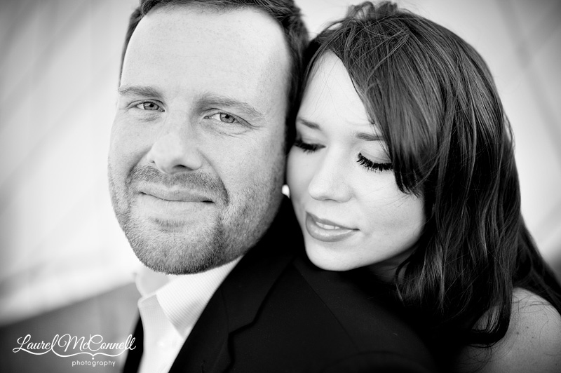 black & white engagment photography in seattle