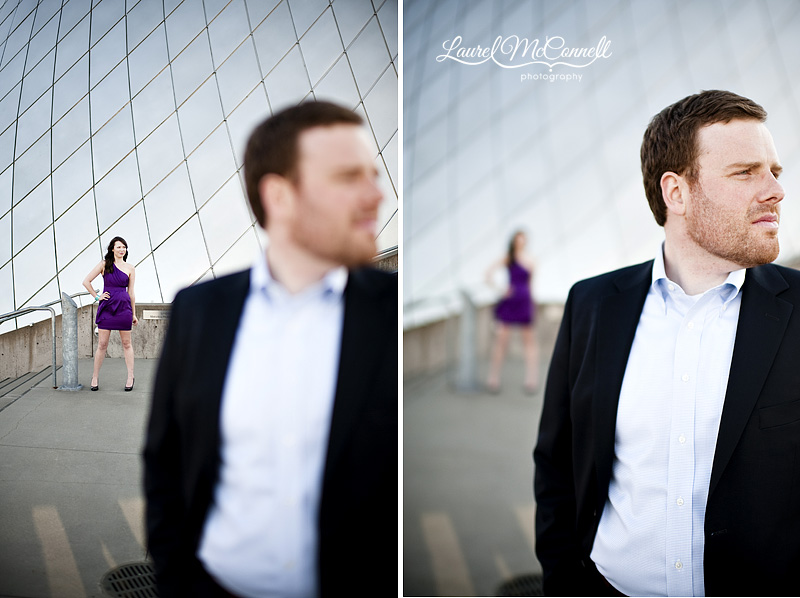 modern engagement photography at the museum of glass in tacoma