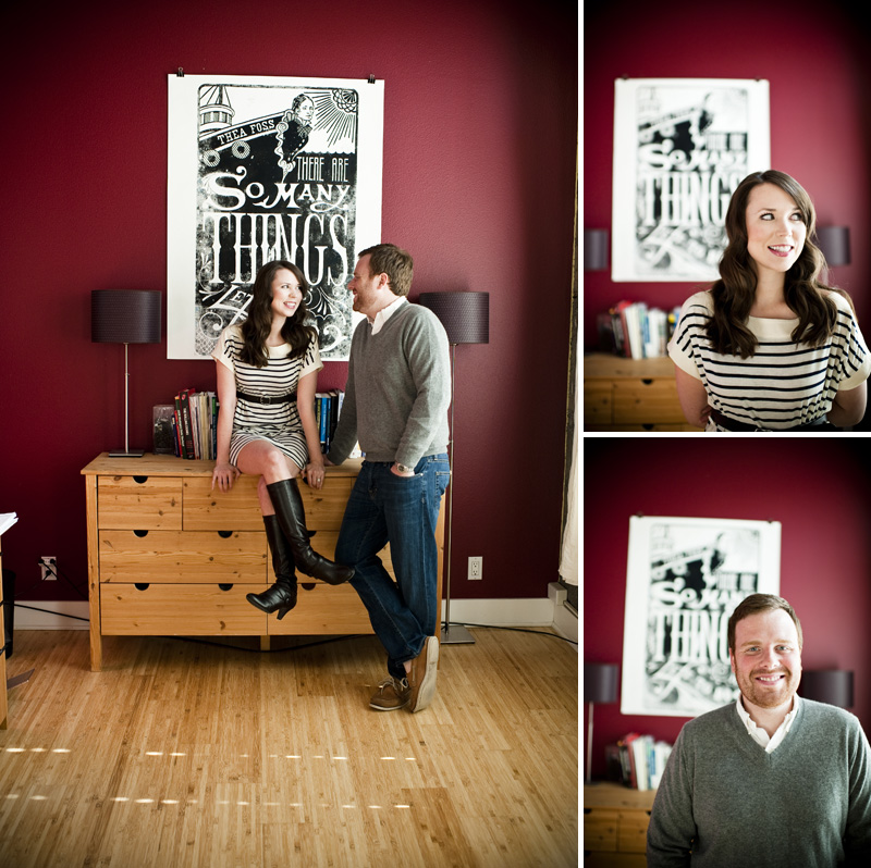 modern engagement photography at home in tacoma