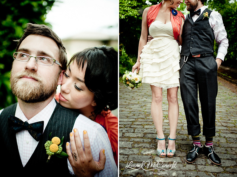 vintage and modern wedding anniversary portraits in Queen Anne Seattle