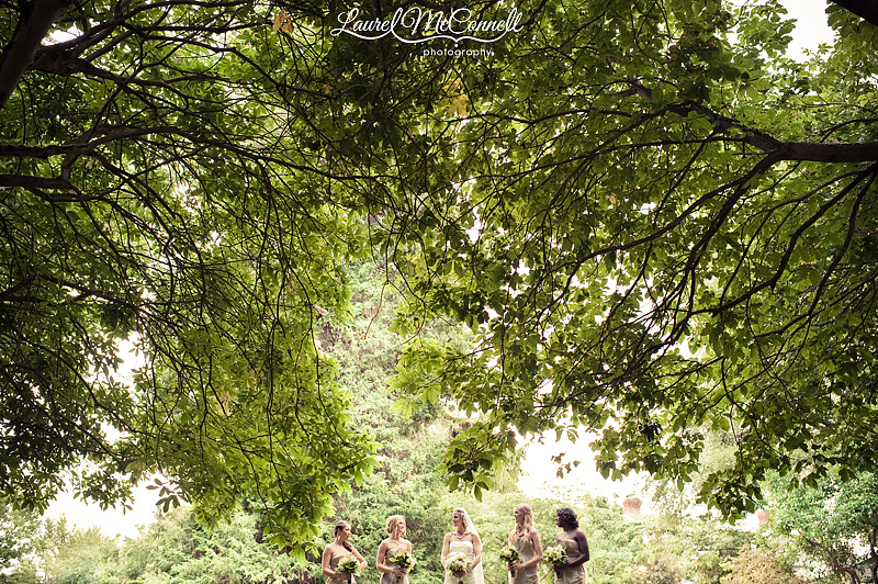 dramatic bridesmaids wedding picture by seattle photographer
