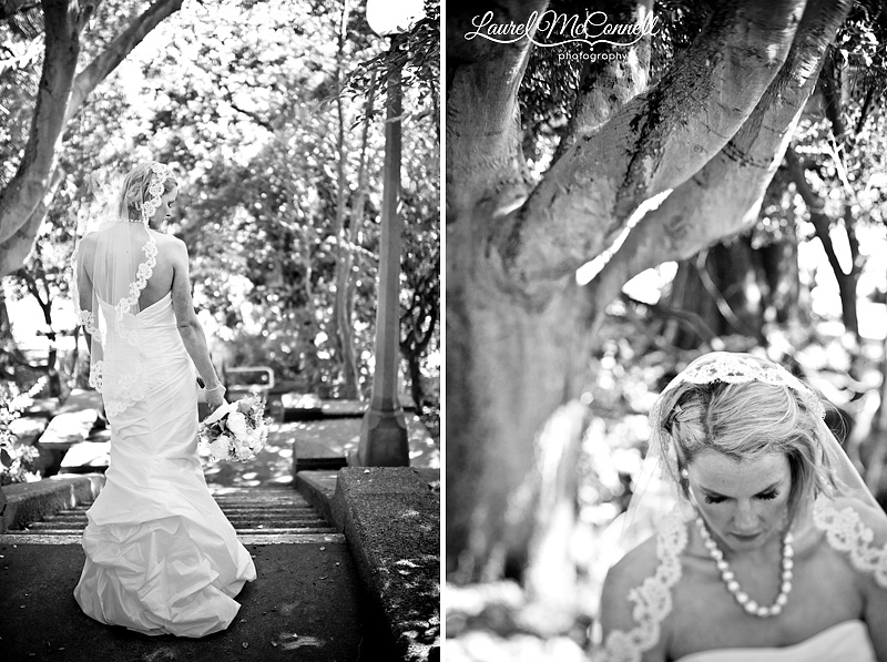 mantilla veil and wedding bouquet with peonies in stunning b&w photography in seattle
