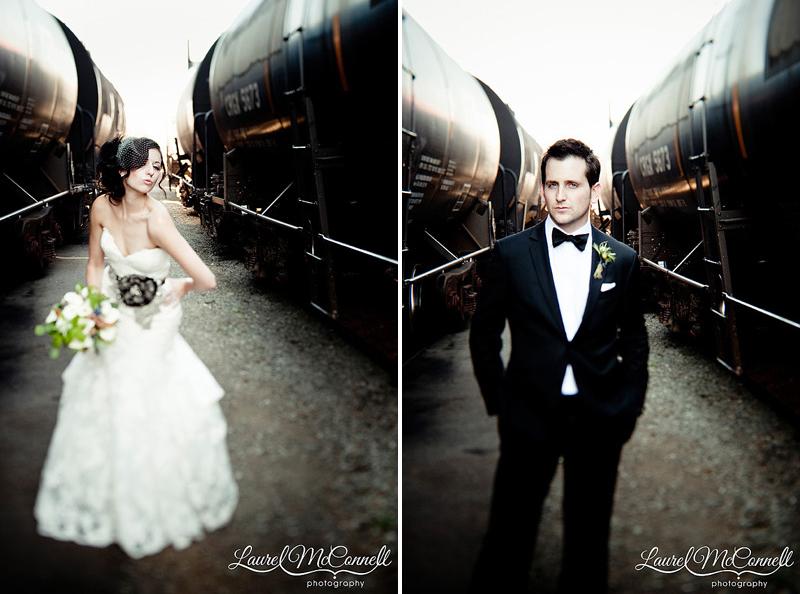 tilt shift fashion photography of modern vintage seattle wedding