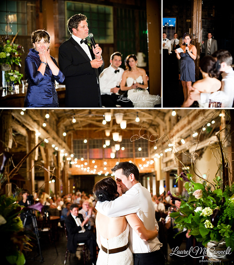 romantic and sweet toasts during low light reception photography