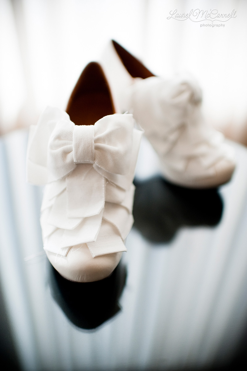 funky white wedding shoes by chie mihara