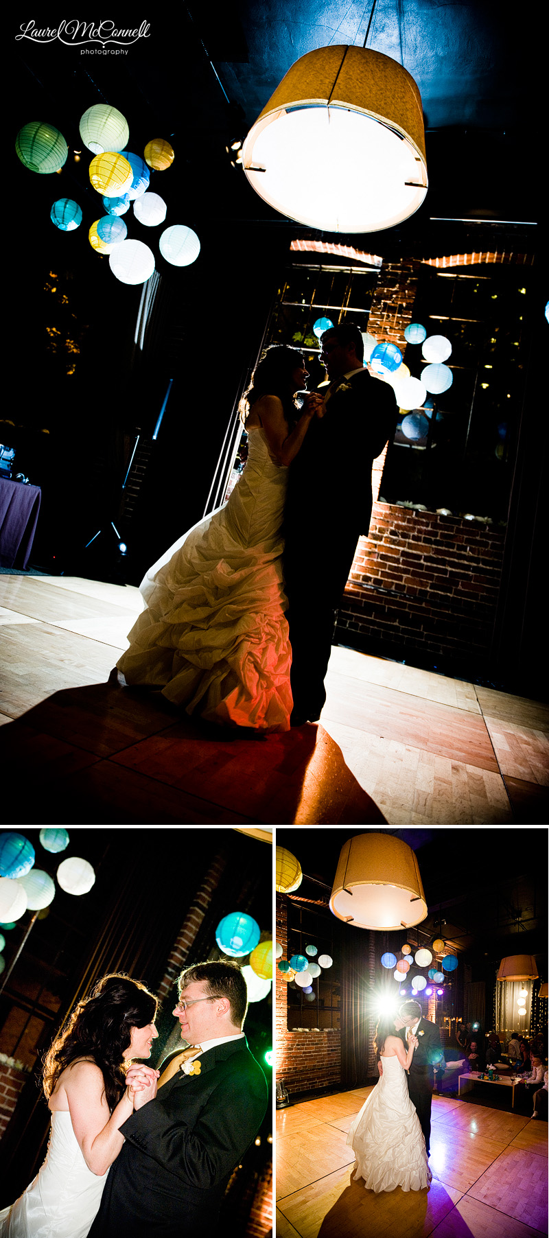 first dance photos at the palace ballroom