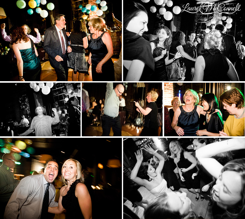 wedding reception photography of the dance floor at palace ballroom
