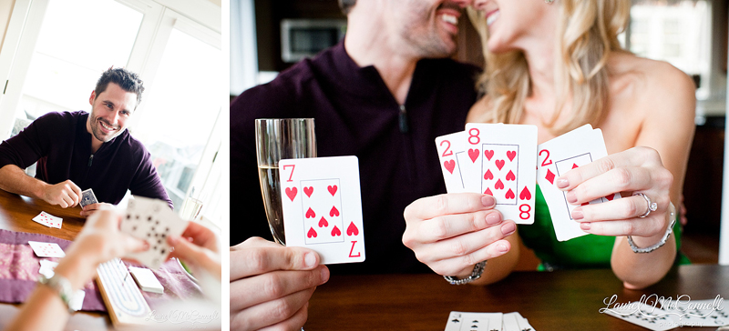 playing cards, save the date, seattle, washington