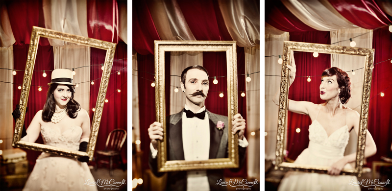 Bride and groom circus portrait inspiration.