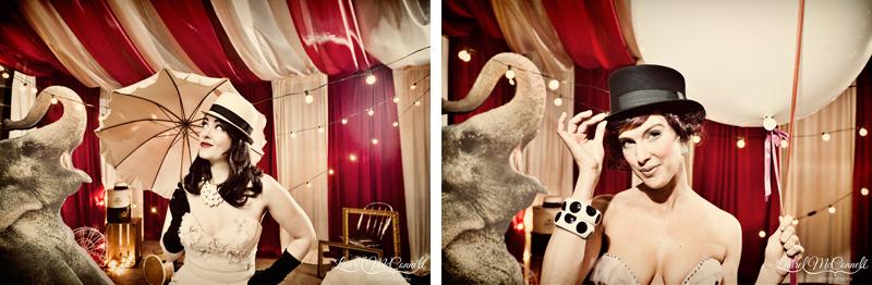 Amazing circusy bridal inspiration.