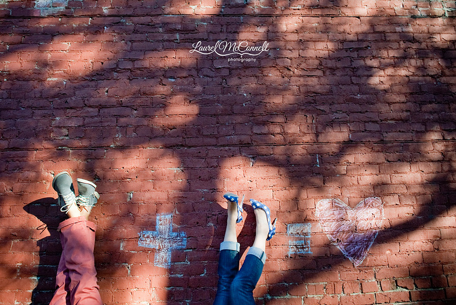 fun hip engagement shoot in ballard blue and red