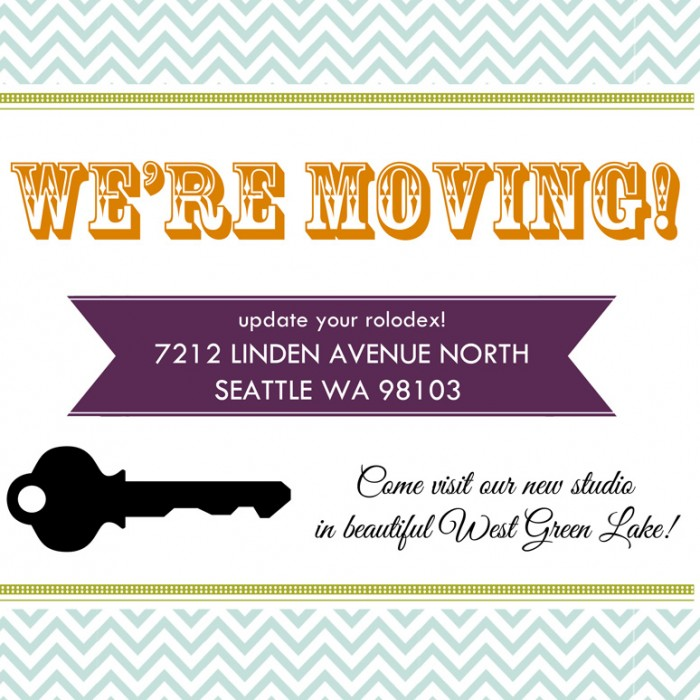 Our Seattle Photography Studio is Moving!