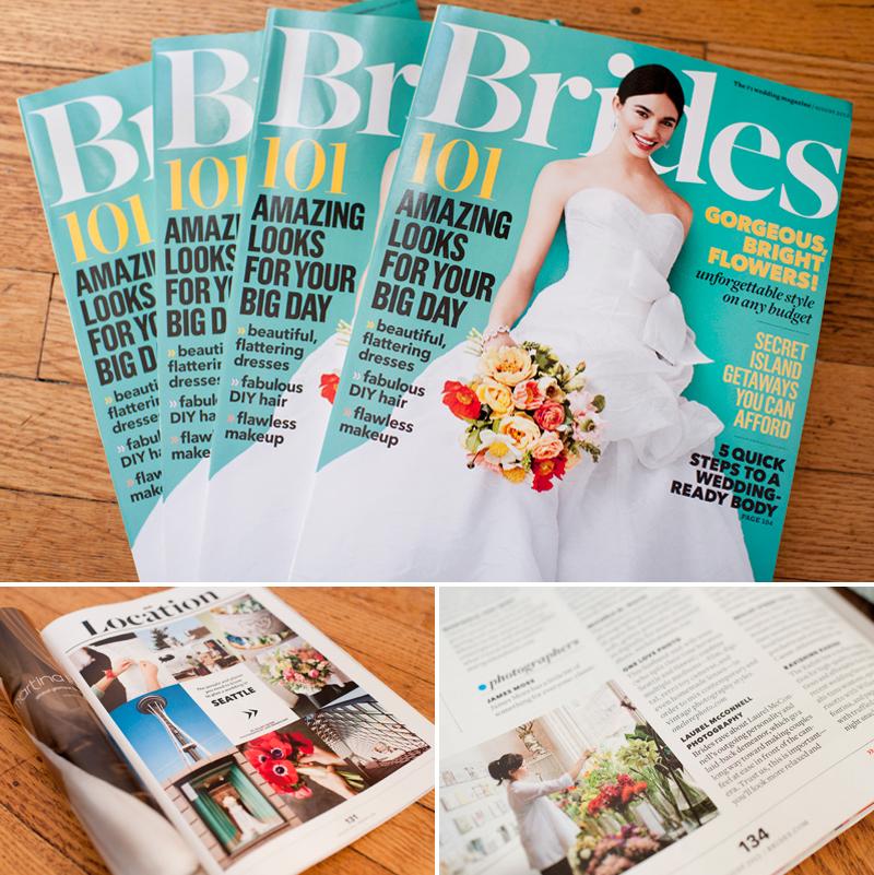 August 2012 Brides Magazine.