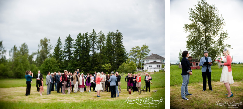 Seattle summer farm wedding.