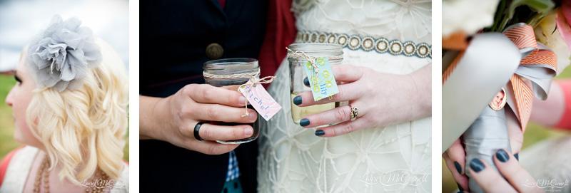 Personal bridal details.