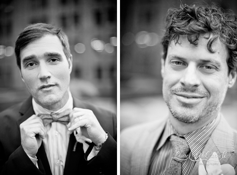 Beautiful close up portraits of grooms on their wedding day by gay marriage supporter Seattle wedding photographer Laurel McConnell.