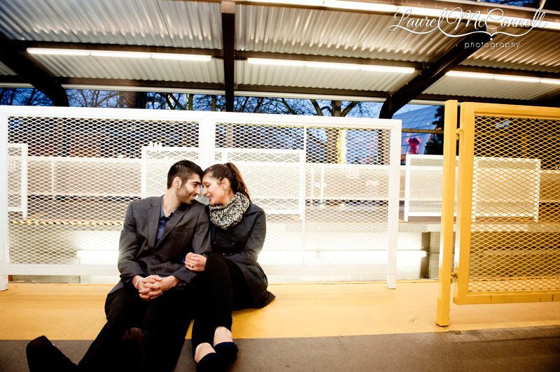urban engagement photography at the seattle monorail platform