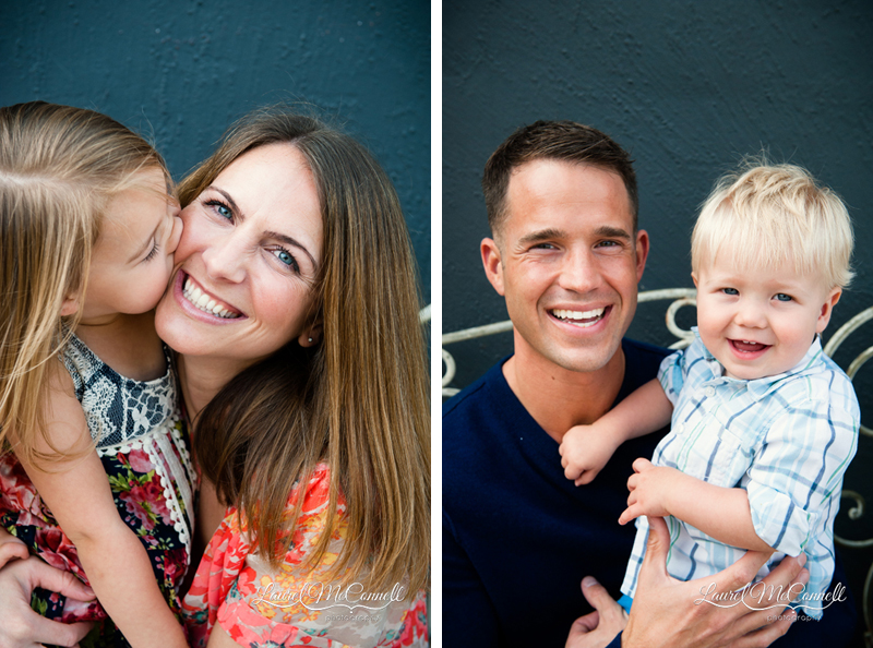 Super sweet mother-daughter and father-son portraits from Seattle family photographer Laurel McConnell.