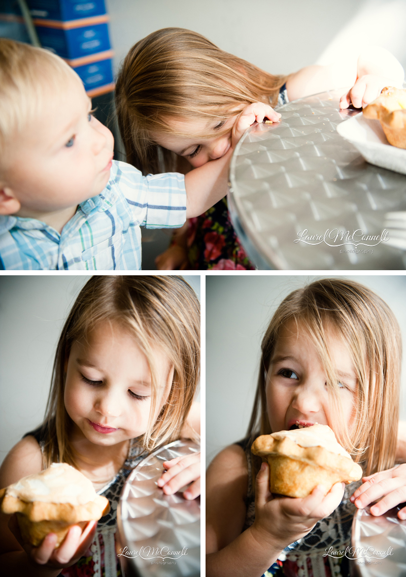 Lifestyle family portraits at High Five Pie in Seattle, Washington by Laurel McConnell Photography.