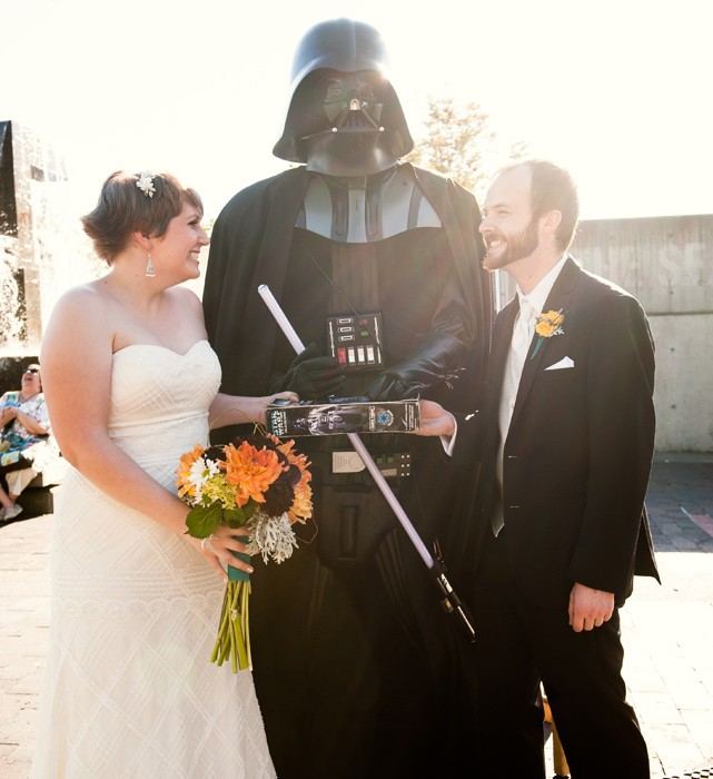 That One Time That Darth Vader Married Lauren + Eric on the Seattle Waterfront.