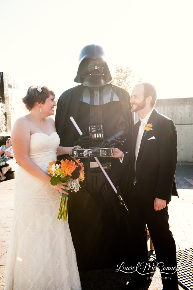Star Wars Seattle Wedding Darth Vader