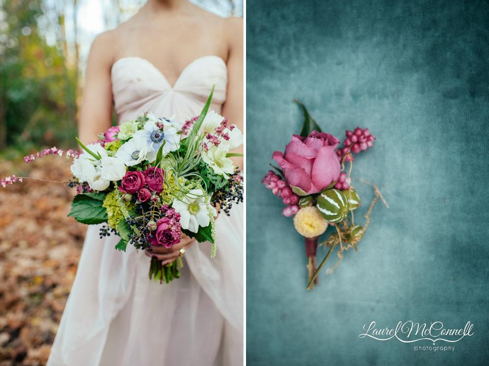 fuschia and green wedding flowers