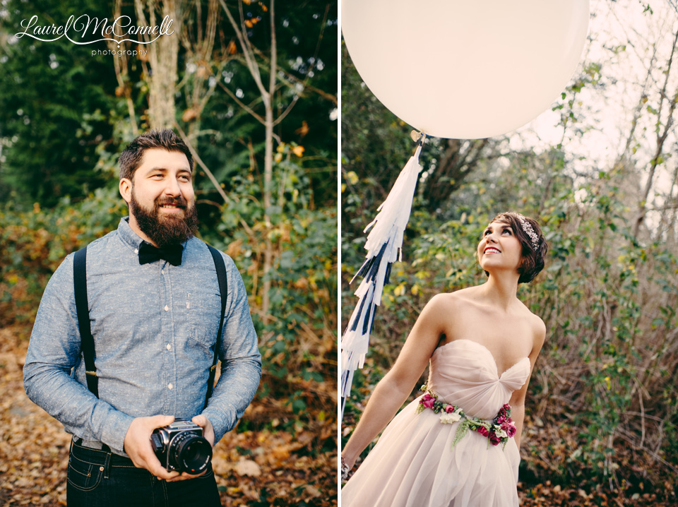 groom vintage camera bride geronimo balloon