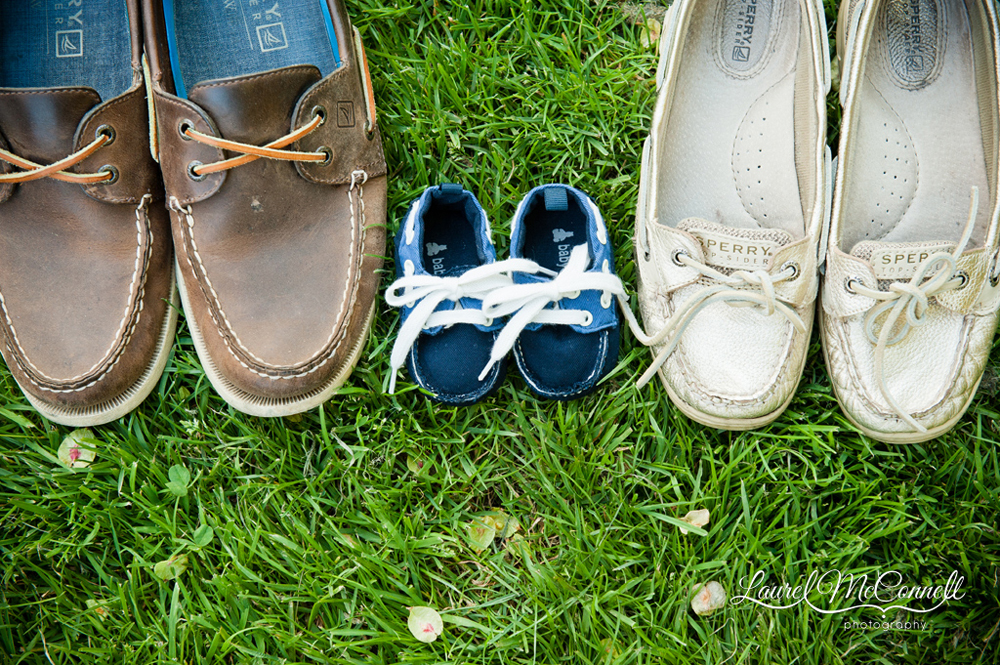 Baby announcement shoe portrait Seattle