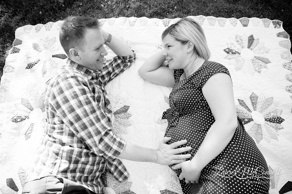 Sweet black and white maternity photography Seattle