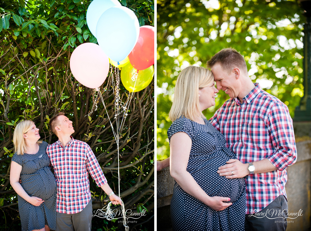 Sweet maternity portrait photography Seattle Laurel McConnell
