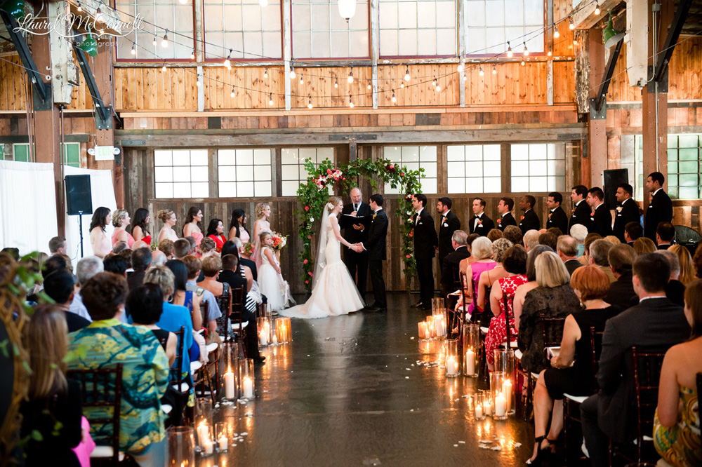 Sodo Park candlelit wedding ceremony.