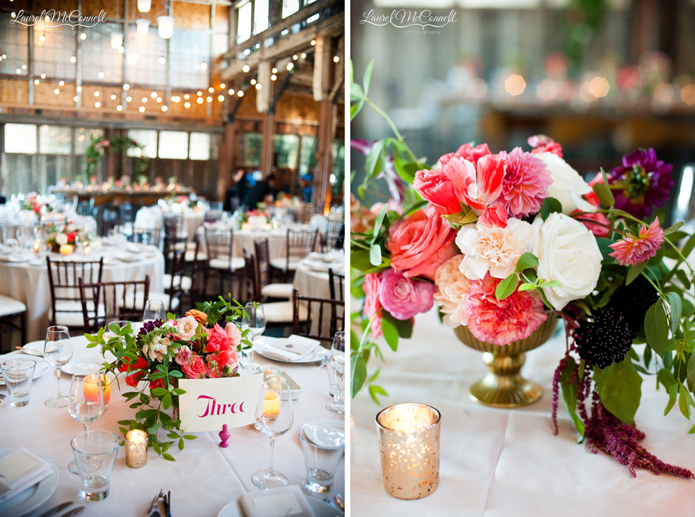 Whimsical floral collection centerpieces by Seattle's Finch and Thistle.