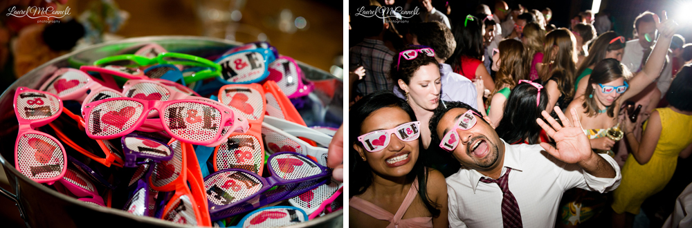 Fun, personalized wedding favor sunglasses.