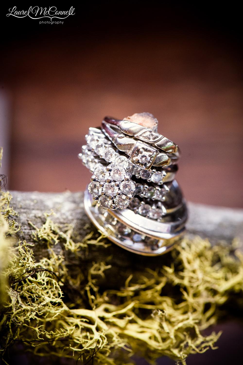 Fun Seattle wedding photography ring shot.