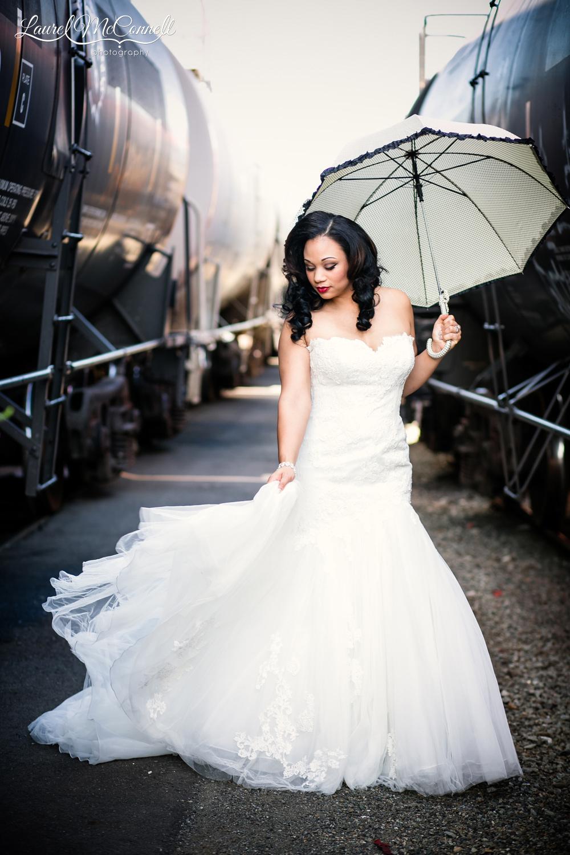 Fun, unique wedding photography with Bella Umbrellas Seattle.