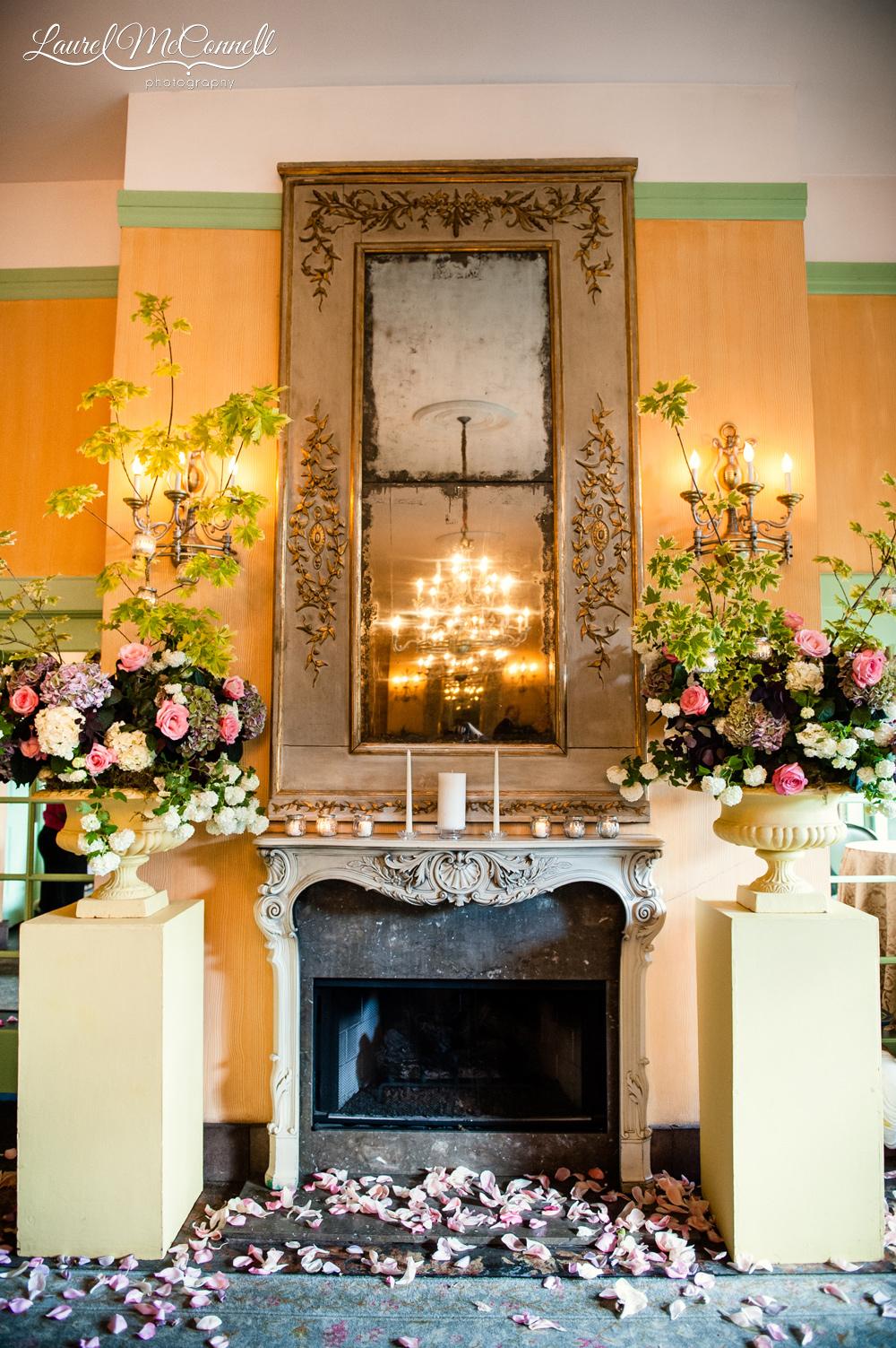 Beautiful indoor wedding ceremony site in Seattle.