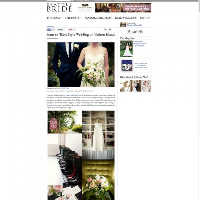 Hey-oh! :: Seattle Bride Online Feature