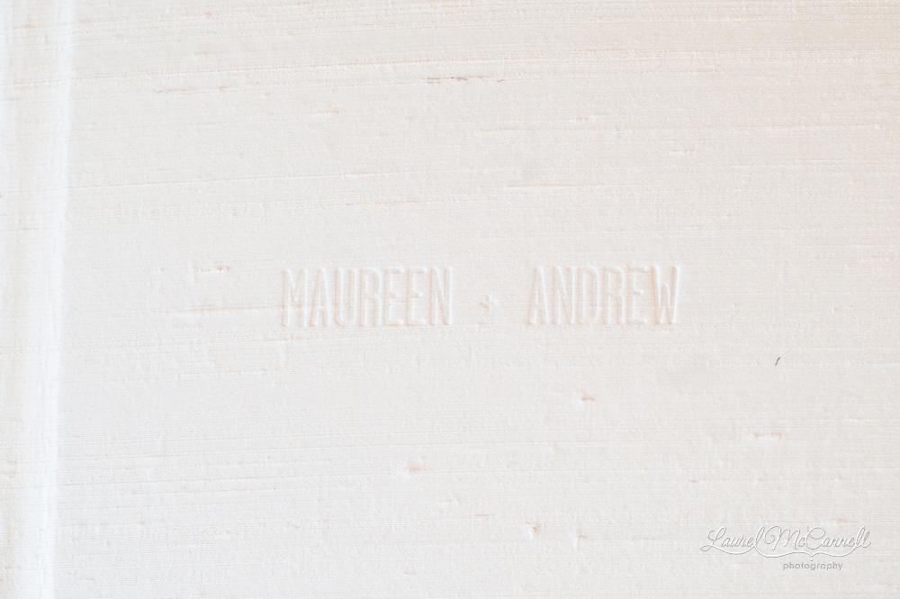 Modern album embossed cover from Laurel McConnell Photography.