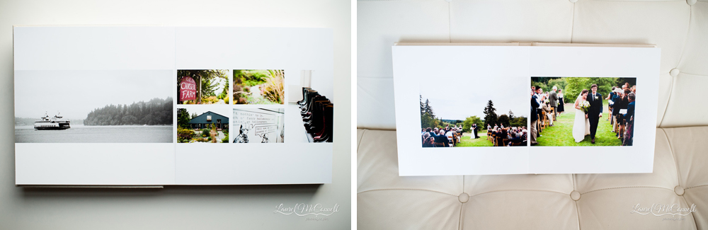 Vashon farm wedding album by Seattle photographer Laurel McConnell.
